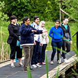 CVC's Ashoo Anand, second from left, at the Terra Cotta Conservation Area with an ESL class from Mississauga's Dixie Bloor Neighbourhood Centre.